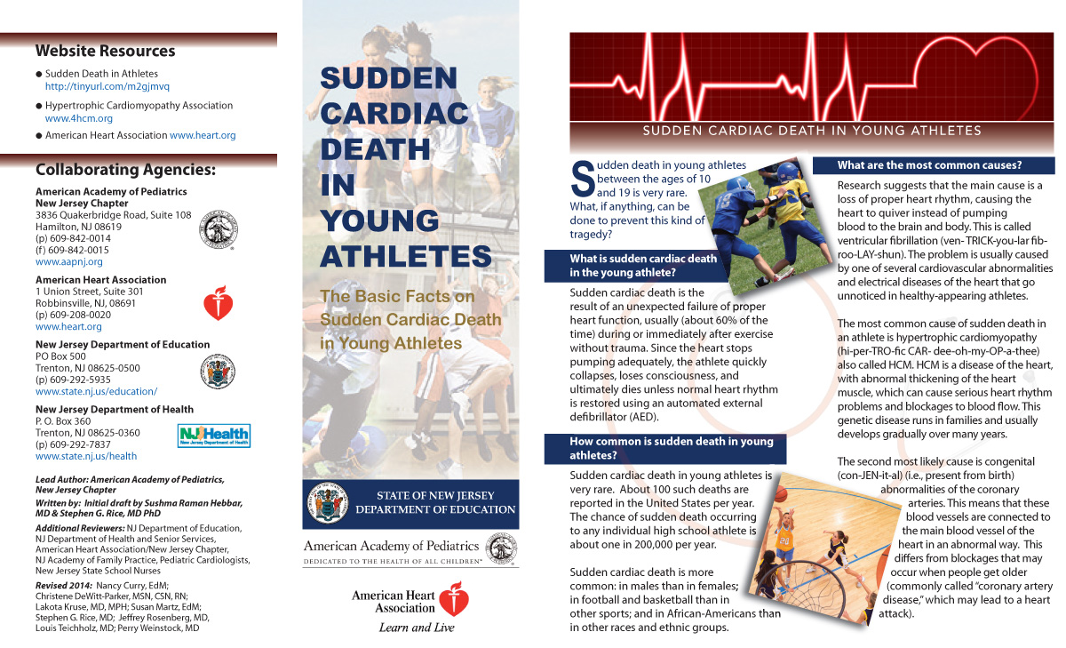 Sudden Cardiac Death in Young Athletes Pamphlet