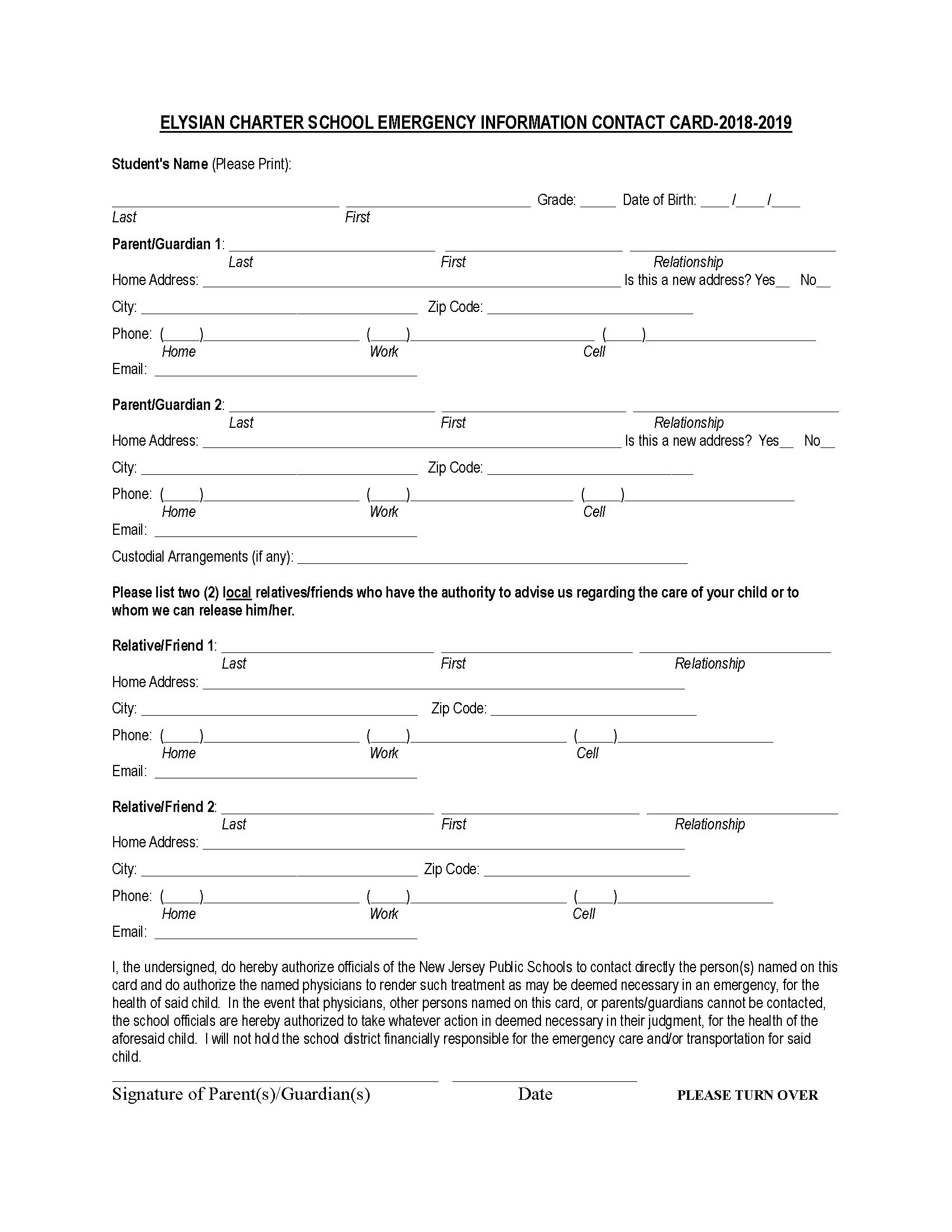 Contact dismissal form