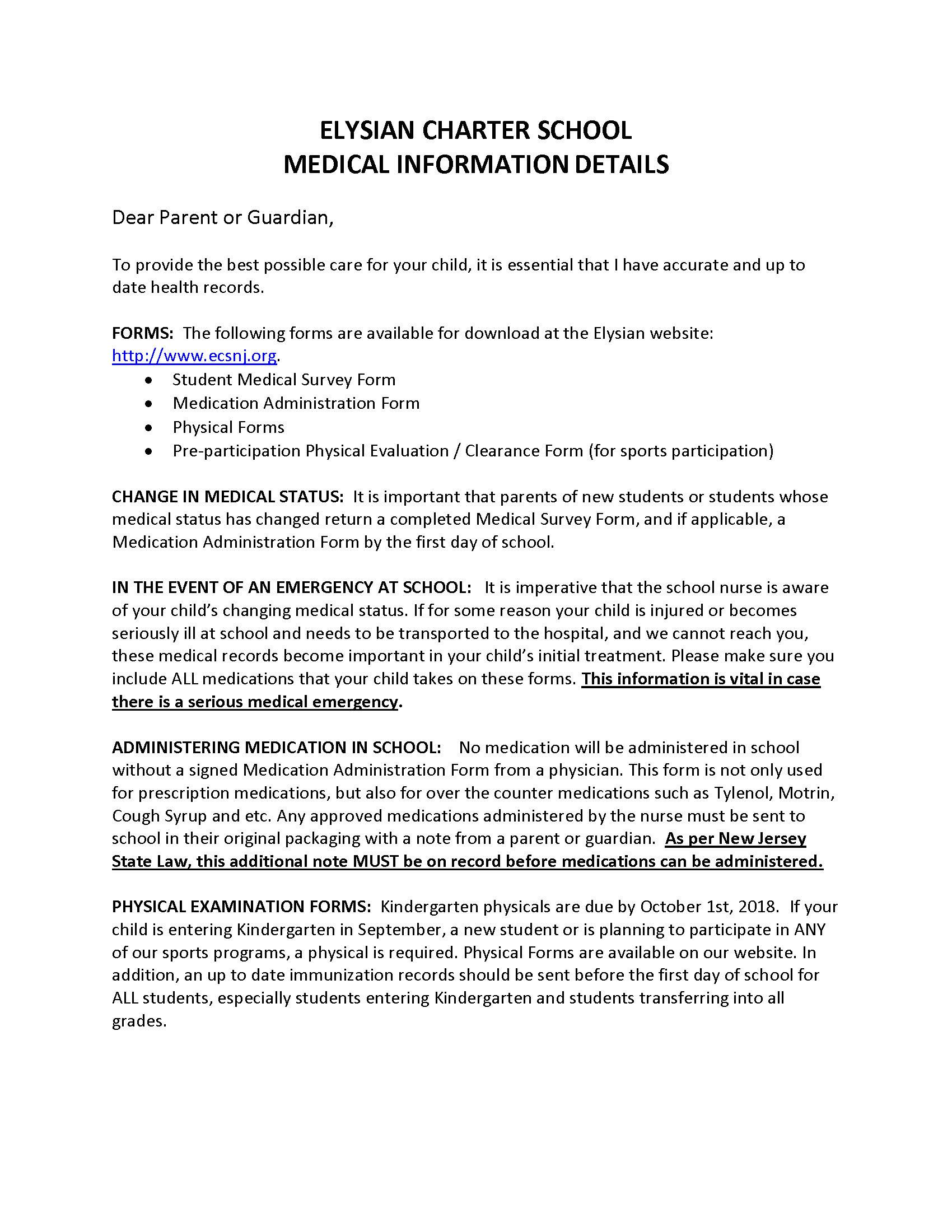 Medical Information Details